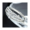 ショッピングイヤリング 0.1ctダイヤリング 指輪 サザンクロスシルバーリング 13号