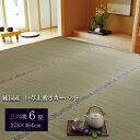 純国産/日本製 糸引織 い草上敷 『湯沢』 三六間6畳(約273×364cm)