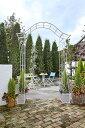 【アーチ】 本格的な雰囲気が楽しめるスチール製アーチお庭にあるだけで優雅な気分を味わえます 【送料無料】