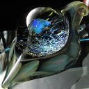 【送料無料!】1点物、世界に1つガラスペンダント スネークヘッド 840/メンズネックレス/ガラスネックレス/ガラスアクセサリー/メンズペンダント/レザーチョーカー/メンズアクセサリー/日本製/ハンドメイド/ブランド【auktn】