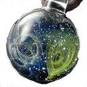 1点物、ガラスネックレス 銀河 メンズネックレス ガラスペン...