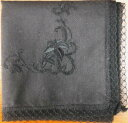 Etiquette wearing handkerchief arabesque black