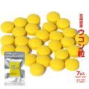 <ウコン粒 7g>宮崎県産ウコン使用(約28〜29粒)うこん ウコンチャック袋入り!