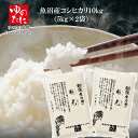 令和2年産 魚沼産コシヒカリ 10kg(5kg×2袋) 新潟 魚沼 精米 送料無料