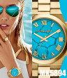 【マイケルコース】Michael Kors Channing ターコイズ ダイヤル ゴールドトーン 38MM レディース 腕時計 MK5894 人気 ユニセックス オススメ