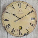 直径60cm 大きいアンティーク調壁掛け時計 カフェラージクロック【レトロ/掛時計/かけ時計/クロック/デザイン/おしゃれ/かっこいい/男前/大型/サイズ】