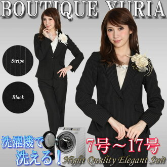 It is arrival correspondence to the shipment next day on the must arrive immediate delivery same day on the trouser suit beauty line beauty leg legendary man with long legs effect black & stripe / Seven-Five-Three Festival 宮参母親用 suit mom suit next da