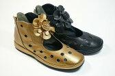 05P18Jun16 春物ブーツ ショートブーツ お花パンチングブーツ 本革痛くない靴 疲れない靴 黒 レディース 靴yuriko matsumoto かわいい コサージュ ウェッジソール