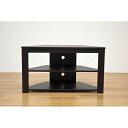 【ポイント20倍UP】コーナーテレビ台/テレビボード 【幅80cm】 ウォールナット 『Wega』 コード穴付き【代引不可】