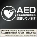 送料無料【AED設置案内表示用ステッカー 大判Lサイズ 2枚組 幅約33cm×高約14.4cm】ハンドメイド AED搭載車や、AED設置場所に。※矢印2枚付属します。