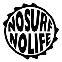 【NOSURF NOLIFE (ノーサーフノーライフ) ver.06 大判Lサイズ カッティングステッカー 2枚組 幅約26.6cm×高約27cm】ハンドメイド デカール。