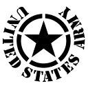 【UNITED STATES ARMY 41(米軍モチーフ) カッティングステッカー 大判Lサイズ 2枚組 幅約28cm×高約25.7cm】...