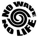 【NOWAVE NOLIFE (ノーウェーブノーライフ)025 WP カッティングステッカー 2枚組 幅約15cm×高約15cm】ハンドメイド デカール