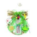 Dr.コパ 2021年風水ミニしめ飾り☆緑☆【お正月飾り】【お正月リース】【開運・風水】