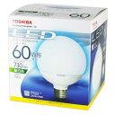 LED電球 E26 東芝 ボール形 LDG7N-H 60W ≪昼白色≫ 明るさ電球60W形相当 [G形]7.4W E26口金 730lm [E-CORE イー・...