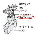 シャープ 冷蔵庫用 浄水フィルター(201 337 0070)[SHARP 純正 正規品 交換 部品 パーツ  新品 新しい フィルター]※取寄せ品