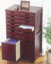 天然木便利仕分けチェストA4サイズ対応引出! KP-816DBR A4 A4サイズ対応 A4ファイル 収納 整理整頓 片付け 小物整理