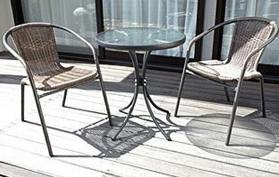 フィールドパートナー ラタン調ガーデンテーブルセット