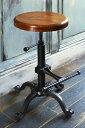 バーチェア INDUSTRIAL(インダストリアル) D イス チェア カウンターチェア猫脚が美しいバーチェア KNC-A700 バーチェア オシャレ カフェ 木目 シンプル 軽量 新婚 新居 ヴィンテージ加工 猫脚 天然木