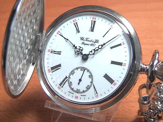 TISSOT ティソ 懐中時計 ポケットウォッチ T83.6.401.13 【文字盤カラー ホワイト】 分割払いもOKです