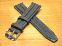 There is a ズッコロ ZRC rubber co-- ティング clock band belt 20mm ash (gray)-colored stitch besides red blue yellow black orange stitch