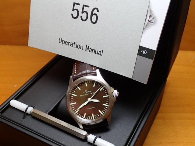 ジン 腕時計 SINN 556.BROWN LIMITED EDTION ラスト1本の希少モデル SINNでは初めての茶色文字盤!!! 優美堂のジン腕時計はメーカー保証2年つきの正規輸入商品です