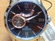 オリエントORIENT 腕時計 ORIENTSTAR オリエントスター プレステージショップ限定モデル セミスケルトン 機械式 自動巻き (手巻き付き) ブラウン WZ0181DA メンズ 革バンド(替えバンド)つき
