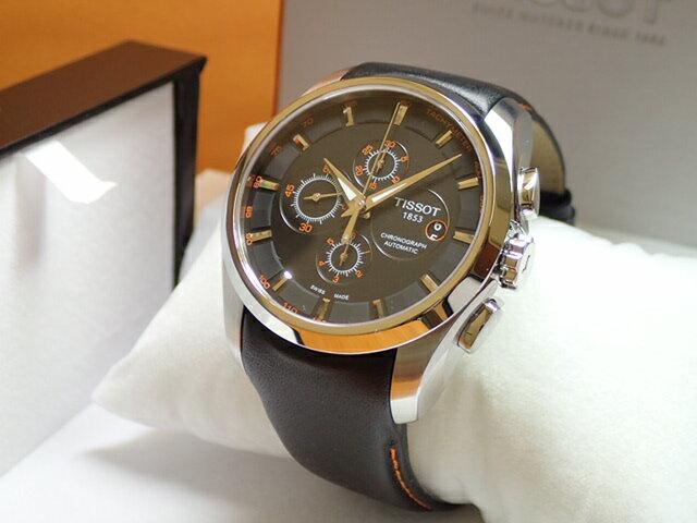 ティソ 腕時計 TISSOT クチュリエ 自動巻き式 オートマチック ブラック文字盤 ブラックレザーベルト バンド T035.627.16.051.01