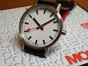 モンディーン 腕時計 クラシック ピュア 36mm ボーイズ ホワイトダイアル ブラックレザー A660.30314.16OM優美堂のモンディーンはメー..