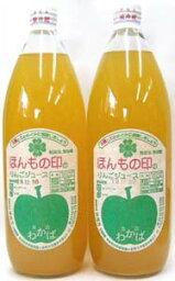 ギフト包装・無農薬・無添加リンゴジュース1リットル×2本セット★国内産100%(青森県)★果汁100%(香料・甘味料不使用)