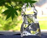 """3英尺认真作家玻璃花瓶""""原光洋""""[ガラス 三つ足手付花入 作家「原光弘」]"""