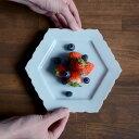 和食器 青白磁輪花六角皿  作家「山本雅彦」