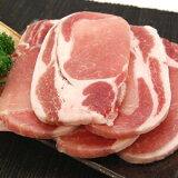 豚ロース厚切りカット(500g)豚肉 ぶた肉 ブタ肉 ロース 精肉(料理例)トンカツ、とんかつ、豚カツ、ステーキなどにお弁当にもどうぞ訳あり 端っこ まで美味しい♪【RCP】