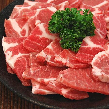 豚肩ロース焼肉用(500g)豚肉 ぶた肉 ブタ肉 肩ロース 精肉(料理例)焼肉、バーベキュ…...:yuuzen:10000570
