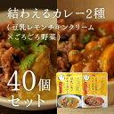 【予約受付】結わえるカレー2種(豆乳レモンチキンクリーム×ごろごろ野菜)40個セット