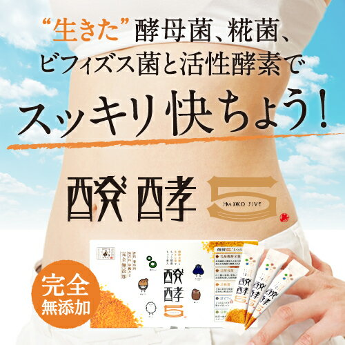 リニューアルSALE20%OFF酵素配合ダイエット・健康サプリの決定版無添加健康補助食品醗酵5(30