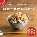 【訳あり均一SALE】寝かせ玄米ごはんパック 24食セット【送料無料】 レトルトご飯