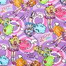 ○アイカツ!(ラベンダー)オックス生地/A5700-5B[キャラクター生地/布/女の子/入園入学]