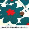 ○コットンこばやし 花柄ツイルプリント/KTS3676-A[生地/布/コットン]
