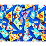 ○キャラクター生地 アンパンマン オックス 紺/A2100-20A[生地/布/男の子/女の子/入園入学]