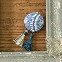 ショッピングキット 刺繍キット 『mutsumi ufu(ムツミ ウフ) 大人モダンなブローチ』 Sky blue(スカイブルー) Piece(ピース)