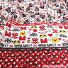 ○KOKKA(コッカ) ディズニー ミニーマウス 両耳ボーダー オックス生地/G-7048-1A[キャラクター生地/布/コットン/入園入学]