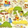 ○KOKKA(コッカ) ディズニー くまのプーさん オックス生地/GR-1044-1A[キャラクター生地/布/コットン/入園入学]
