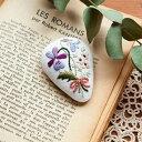 ショッピング作り方 Piece(ピース) 『Rairaiさんのノスタルジックフラワー刺しゅうキット』 ブローチ Violet bouquet