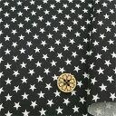 数量5から  生地 『シーチング 星柄(小) 88620-1-10 ブラック』
