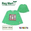 ショッピングラグマート 50%OFF セール 子供服 ラグマート 長袖 Tシャツ 2019 春物 テレフォンボックス長袖Tシャツ 100~130 メール便可