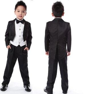(孩子們)] fs04gm [男孩] 兒童燕子尾燕尾服 5 點集的尾巴套裝 5 點集的西服上領結襯衫腰皮帶正式的西裝燕尾正式穿兒童套裝 fs3gm02P20Sep14