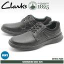 送料無料 クラークス CLARKS カジュアルシューズ COTRELL PLAIN ブラック オイリーレザー(26119806)靴 スニーカー 天然皮革メンズ(男性用)