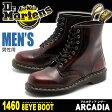 送料無料 ドクターマーチン(DR.MARTENS) 8ホールブーツ 1460 チェリーレッド アルカディア (DR.MARTENS R13701602 1460 8 EYE BOOTS CHERRY RED ARCADIA) メンズ(男性用)アルカディア レザー 本革 靴 ワーク ブーツ 8eye カジュアルシューズ