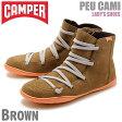 送料無料 カンペール(CAMPER) ペウ カミ ブラウン(CAMPER 46104 078 PEU CAMI)レディース(女性用) 靴 ハイカット シューズ カジュアル スニーカー 天然皮革 レザー